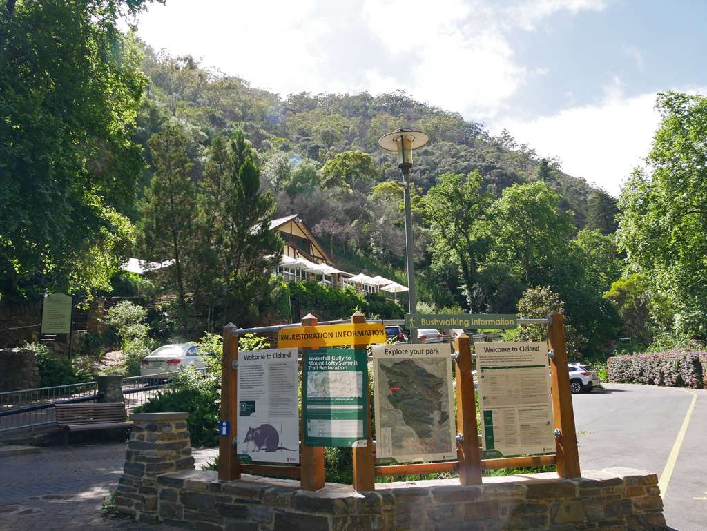 The starting point at Waterfall Gully - Mount Lofty