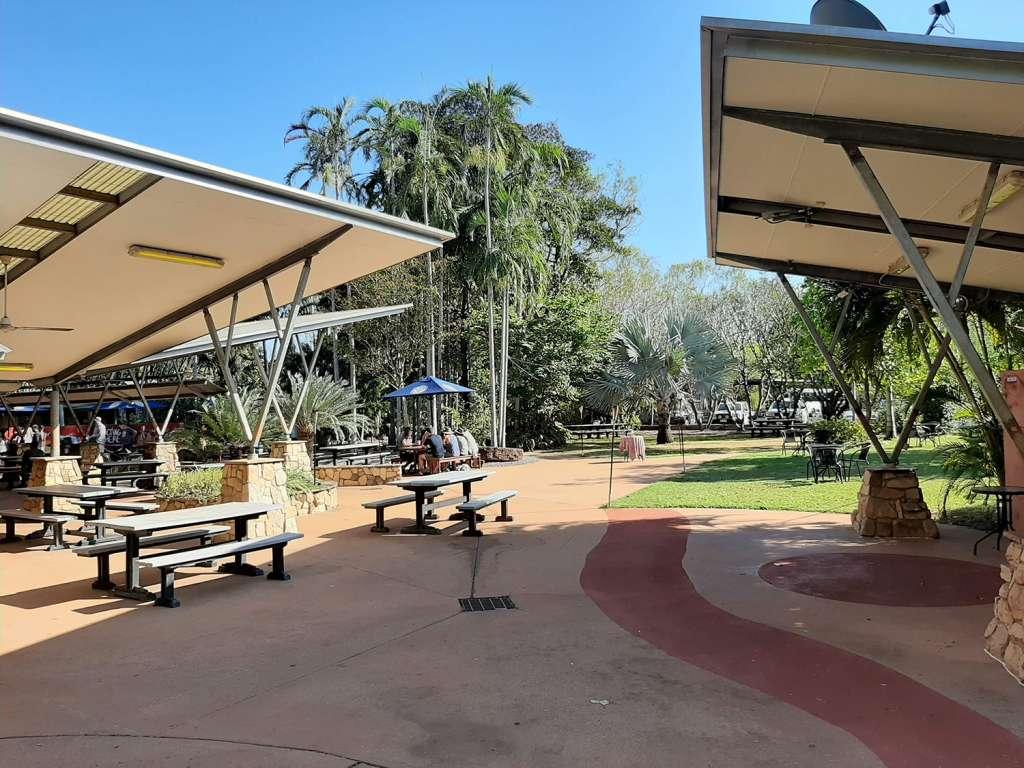 The restaurant and terrace of Cooinda Lodge Kakadu - Kakadu National Park sights