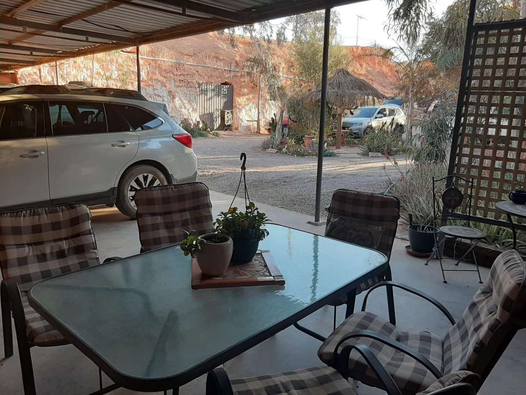 The terrace of the B&B - Coober Pedy