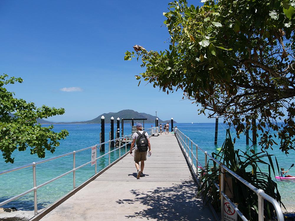 Pier in front of the resort